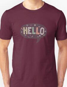 Hello Speech Bubble Typography T-Shirt