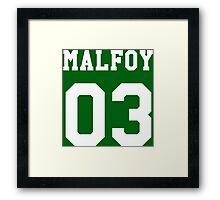 Malfoy 03 Draco malfoy - white Framed Print
