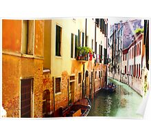 Canal, Venice Poster