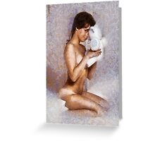 Vintage Pinup by Frank Falcon Greeting Card
