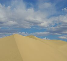 Death Valley dune under beautiful skies by Claudio Del Luongo