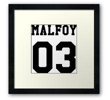 Malfoy 03 Draco malfoy - Black Framed Print