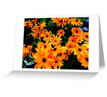 """""""Cluster of yellow & orange Flowers"""" by Chip Fatula Greeting Card"""