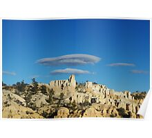 Particular clouds on Bryce Canyon, Utah Poster