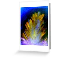 """Peacock Feather""  Greeting Card"