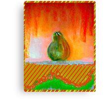 """""""Enhanced Pear"""" Canvas Print"""