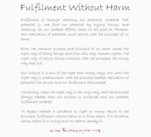 Fulfilment Without Harm t-shirt by benwallace13