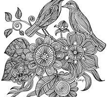 Bird Doodle - Work in Progress by micklyn