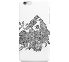 Bird Doodle - Work in Progress iPhone Case/Skin