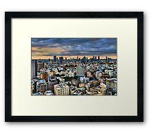 Tel Aviv skyline winter time Framed Print