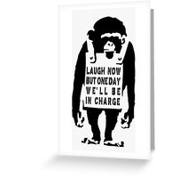 Banksy Monkey Qoute Greeting Card