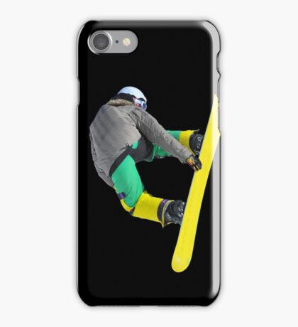 Freestyle snowboarder iPhone Case/Skin
