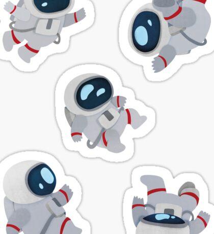 Floating Astronauts Sticker