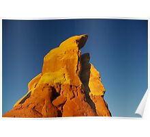 First morning light on rocks, Devils Garden, Utah Poster