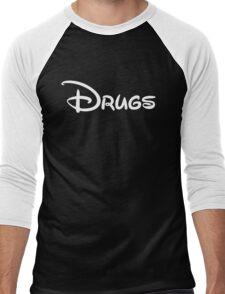 Bisney White Men's Baseball ¾ T-Shirt
