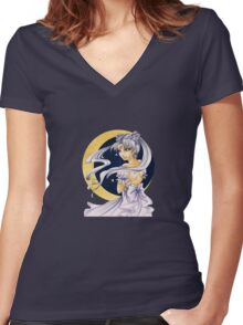 Princess Serenity Women's Fitted V-Neck T-Shirt
