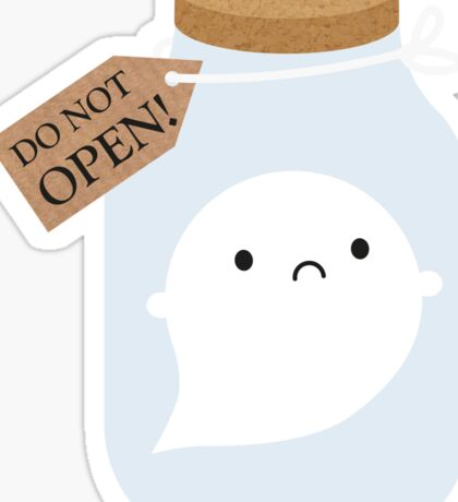 Trapped Little Ghost Sticker