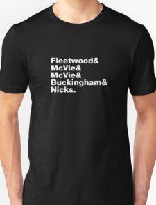 Fleetwood Mac Names T-Shirt