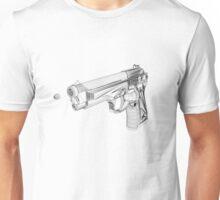 Wireframe Beretta Handgun Unisex T-Shirt