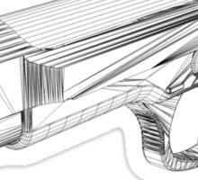 Wireframe Beretta Handgun Sticker
