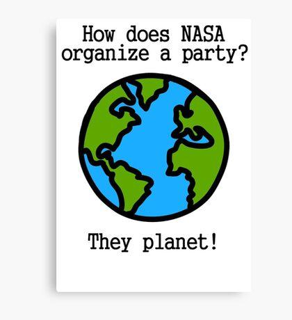 NASA Party Canvas Print