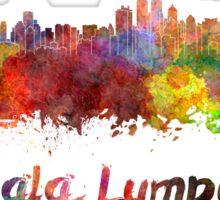 Kuala Lumpur skyline in watercolor Sticker