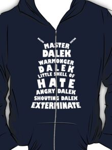 Master Dalek ('Soft Kitty' style) WHITE T-Shirt