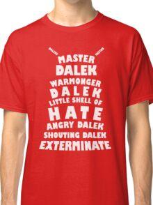 Master Dalek ('Soft Kitty' style) WHITE Classic T-Shirt