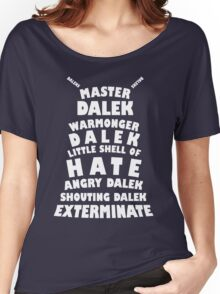 Master Dalek ('Soft Kitty' style) WHITE Women's Relaxed Fit T-Shirt