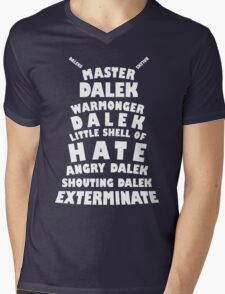 Master Dalek ('Soft Kitty' style) WHITE Mens V-Neck T-Shirt