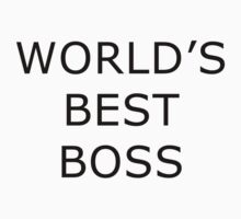 World's Best Boss - The Office (Black Text) by CalumCJL