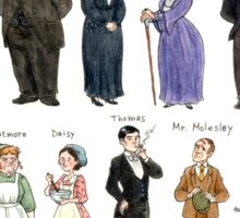 Downton Abbey portraits Sticker