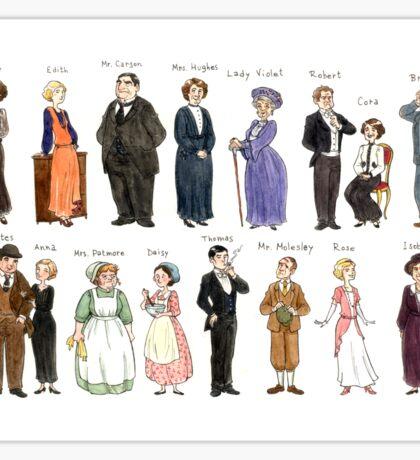 Downton Abbey portraits Sticker