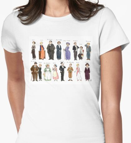 Downton Abbey portraits Womens Fitted T-Shirt
