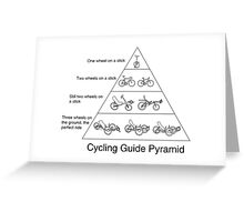 Cycling Guide Pyramid Greeting Card