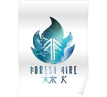 Forest Fire - Waves Poster