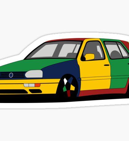 Volkswagen Golf MK3 Harlequin Sticker