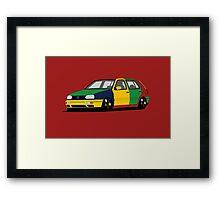 Volkswagen Golf MK3 Harlequin Framed Print