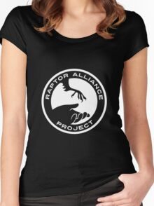 Raptor Alliance Project: White Women's Fitted Scoop T-Shirt