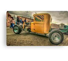 Yellow Truck Rod Metal Print