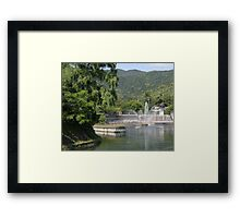 View on river in Japan Framed Print