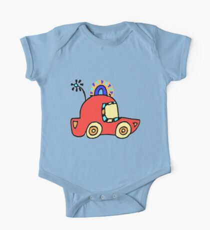 Police Car Red  - by Beatrice Ajayi One Piece - Short Sleeve
