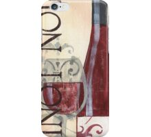 Transitional Wine Pinot Noir iPhone Case/Skin