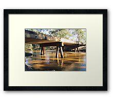 Bridge out Irvinebank Way Framed Print