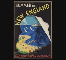 Vintage poster - New England Kids Tee