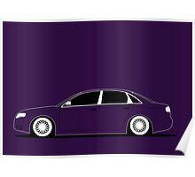 Audi A4 saloon Slammed Poster