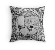 """Detail from """"Madriguera"""" Throw Pillow"""