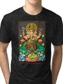 Ganesh Blessing Thailand Tri-blend T-Shirt