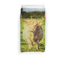 Shaggy Highland Cow Duvet Cover