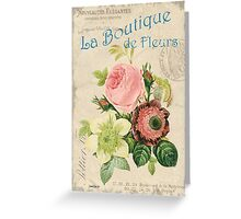 Vintage French Flower Shop 2 Greeting Card
